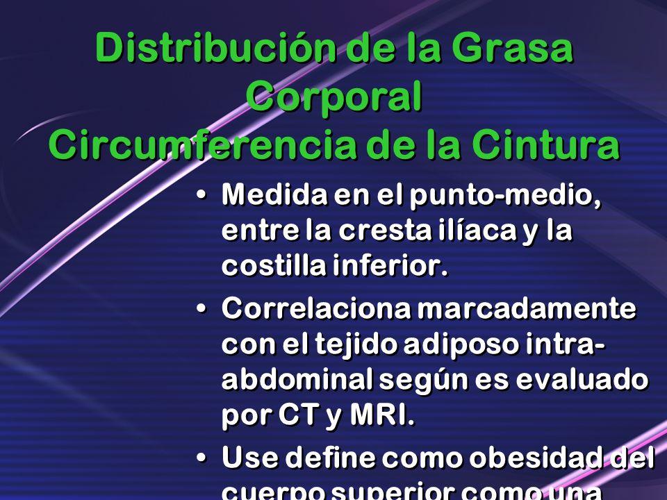 Distribución de la Grasa Corporal Circumferencia de la Cintura