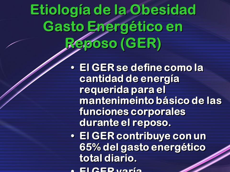Etiología de la Obesidad Gasto Energético en Reposo (GER)