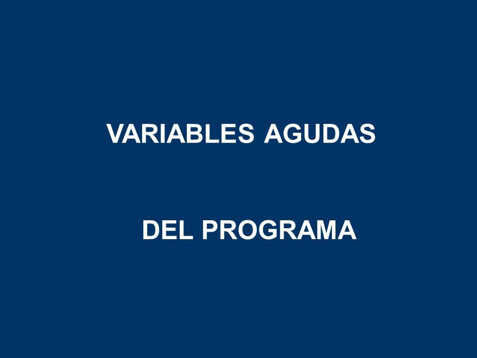 VARIABLES AGUDAS DEL PROGRAMA