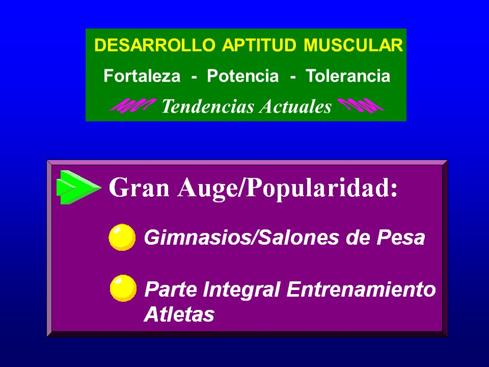 Tendencias Actuales DESARROLLO APTITUD MUSCULAR