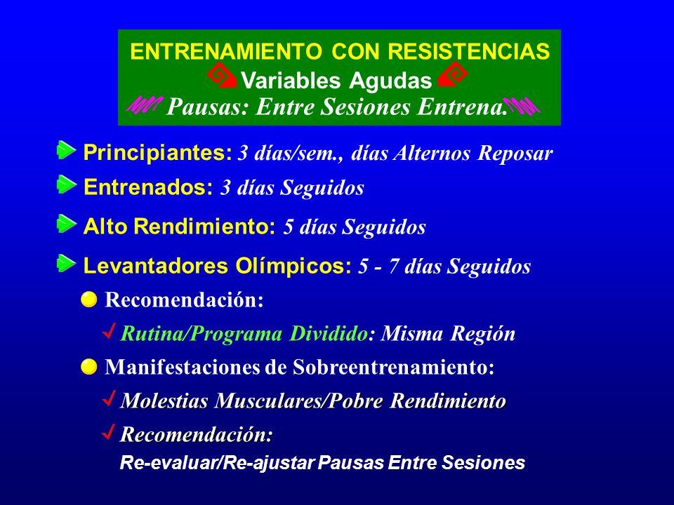 Pausas: Entre Sesiones Entrena.