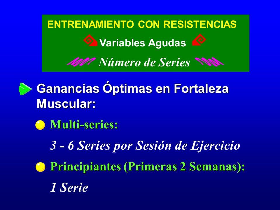 3 - 6 Series por Sesión de Ejercicio