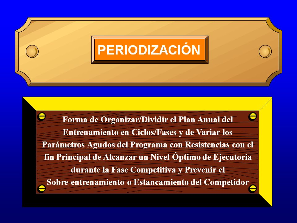 Forma de Organizar/Dividir el Plan Anual del