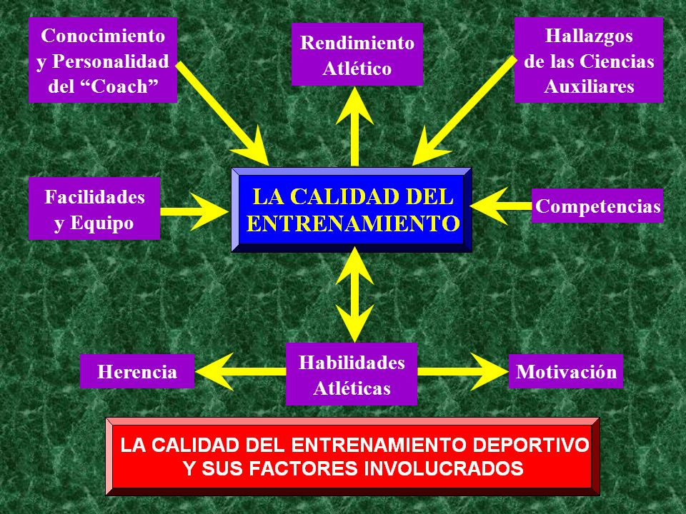 Conocimientoy Personalidad. del Coach Hallazgos. de las Ciencias. Auxiliares. Rendimiento. Atlético.
