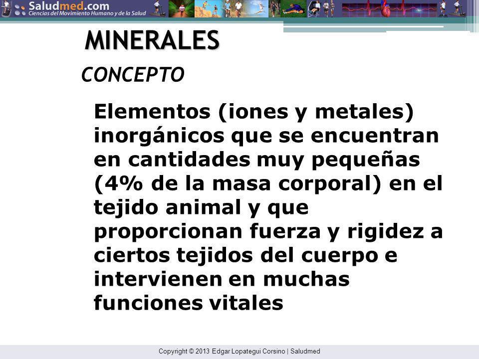 MINERALES CONCEPTO.