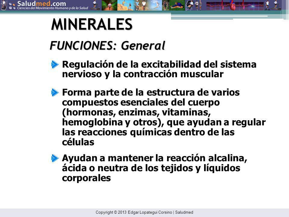 MINERALES FUNCIONES: General