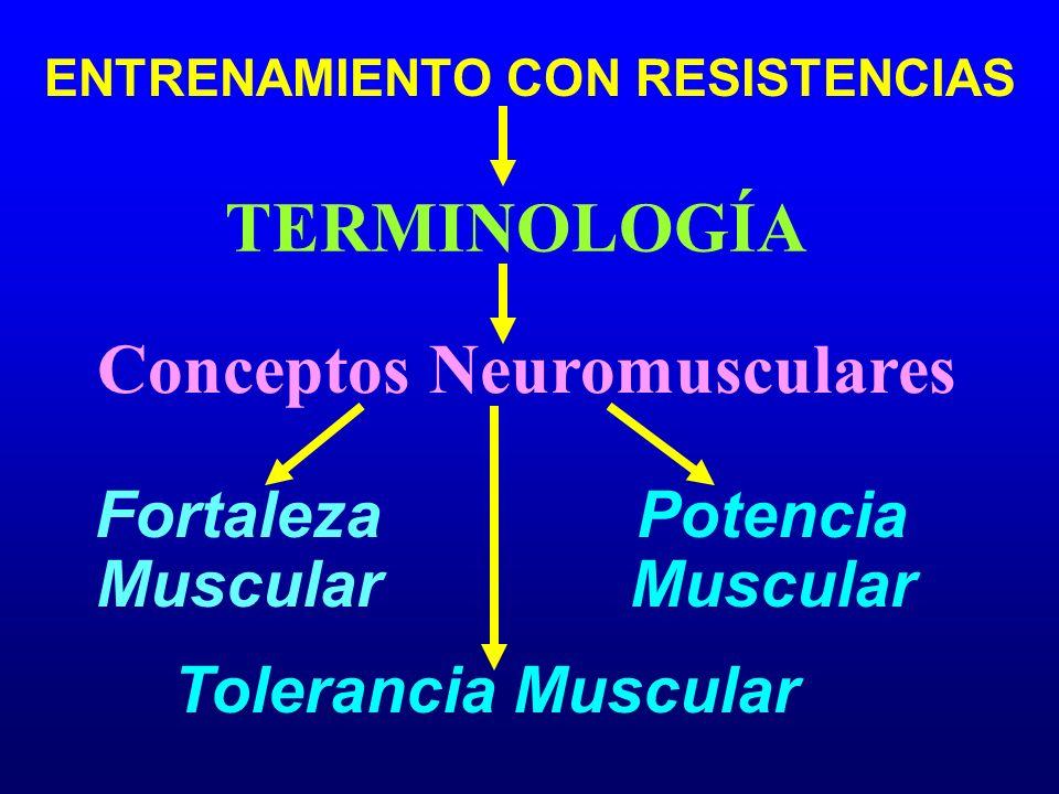 ENTRENAMIENTO CON RESISTENCIAS Conceptos Neuromusculares