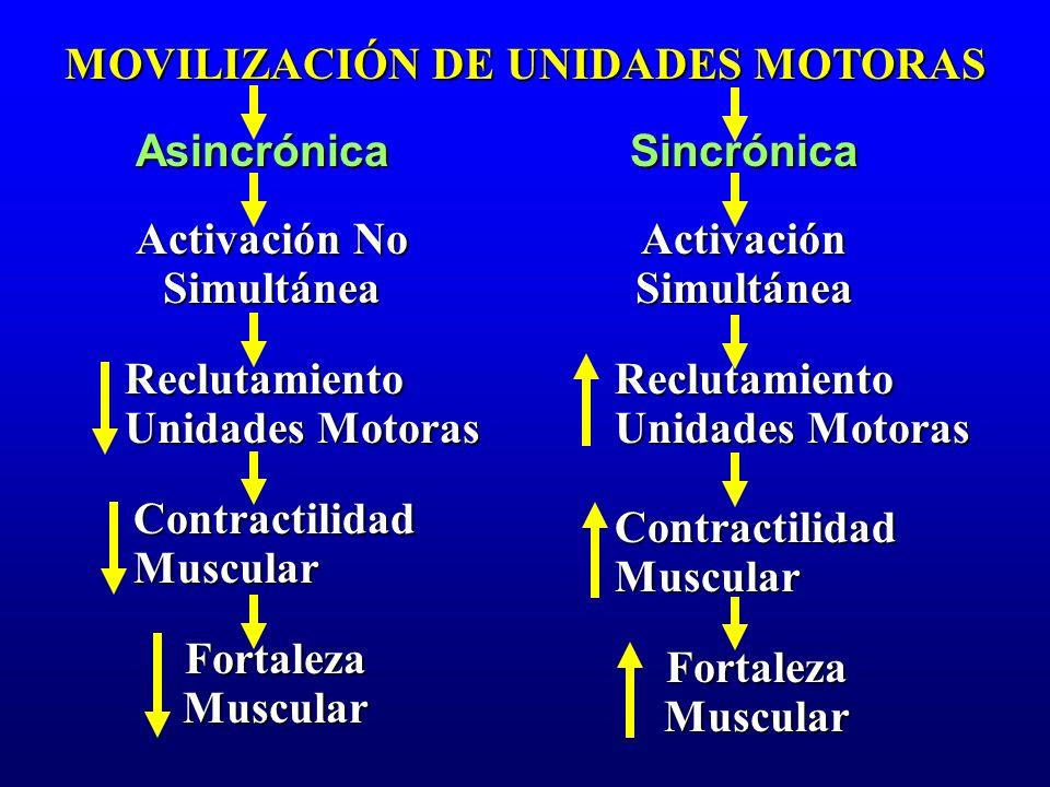 MOVILIZACIÓN DE UNIDADES MOTORAS