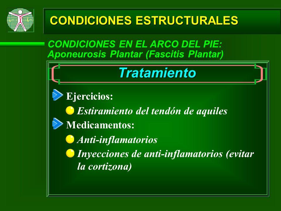 Tratamiento CONDICIONES ESTRUCTURALES Ejercicios:
