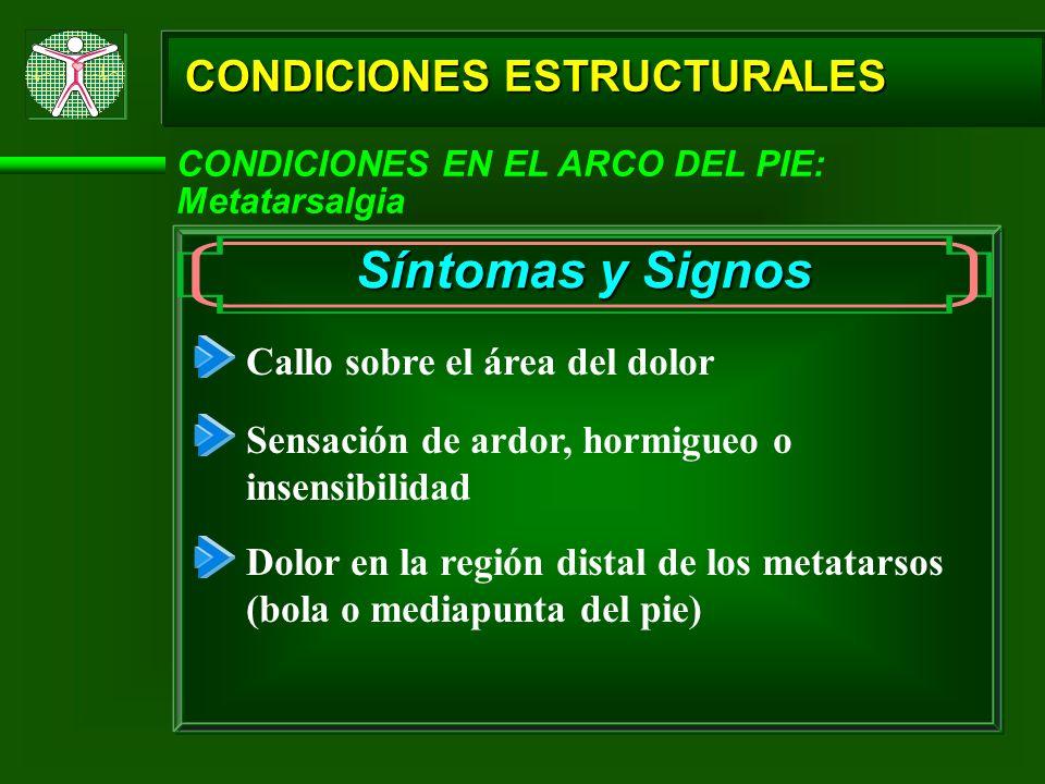 Síntomas y Signos CONDICIONES ESTRUCTURALES