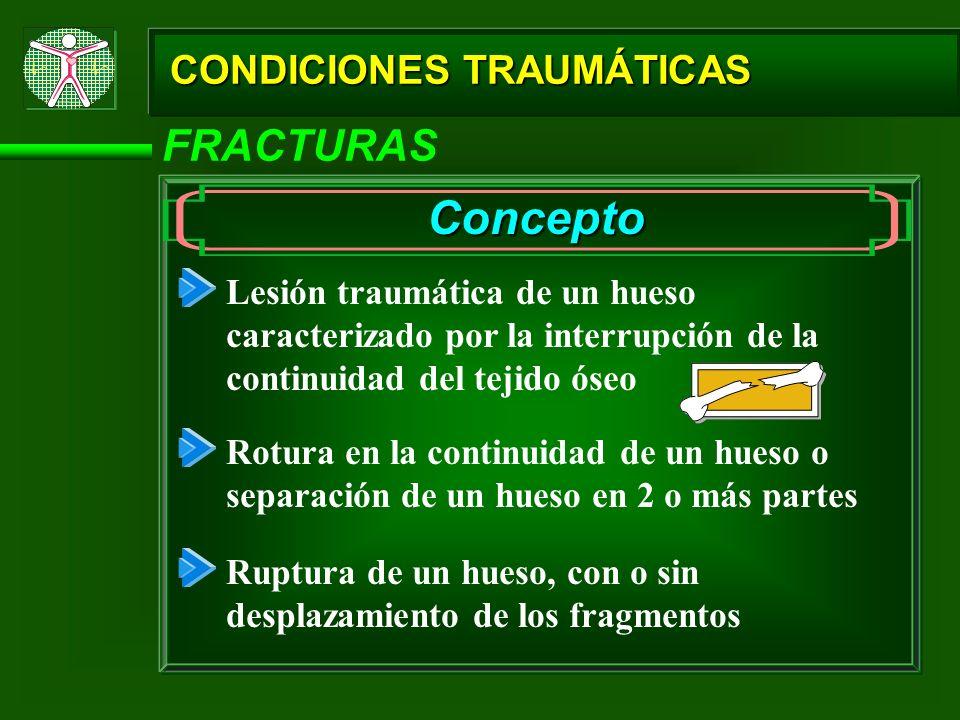Concepto FRACTURAS CONDICIONES TRAUMÁTICAS