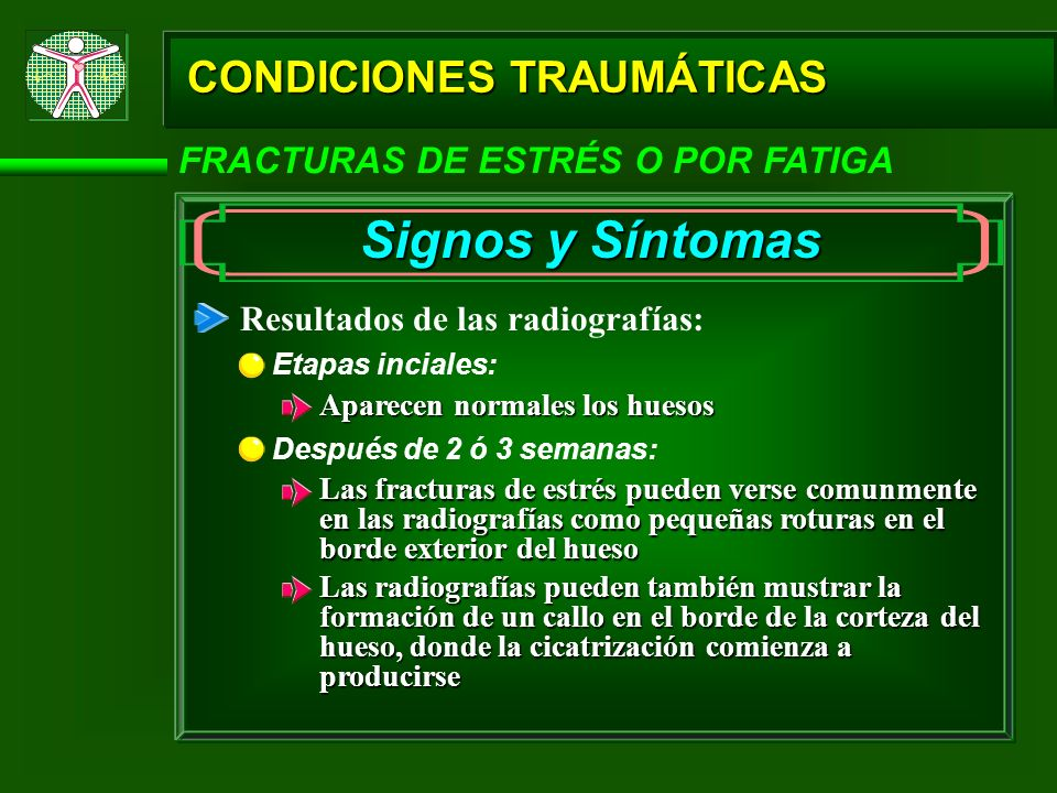 Signos y Síntomas CONDICIONES TRAUMÁTICAS