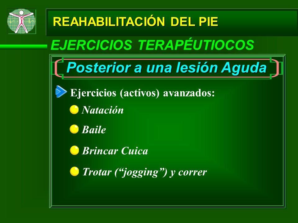 Posterior a una lesión Aguda