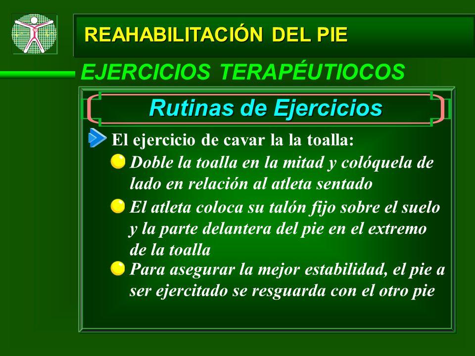 Rutinas de Ejercicios EJERCICIOS TERAPÉUTIOCOS REAHABILITACIÓN DEL PIE