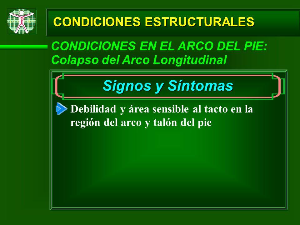 Signos y Síntomas CONDICIONES ESTRUCTURALES