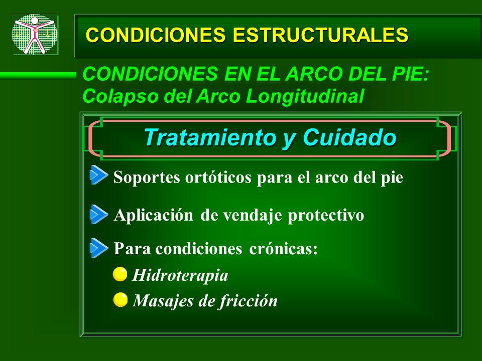 Tratamiento y Cuidado CONDICIONES ESTRUCTURALES