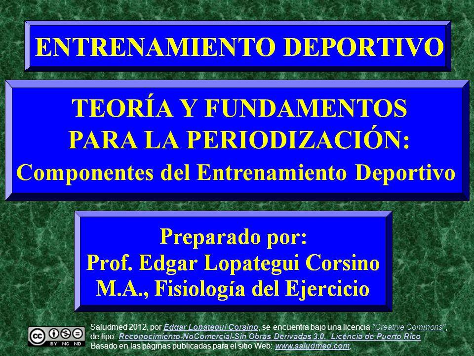 PARA LA PERIODIZACIÓN: Componentes del Entrenamiento Deportivo