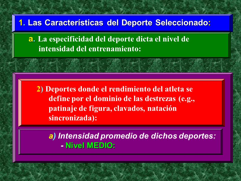 1. Las Características del Deporte Seleccionado: