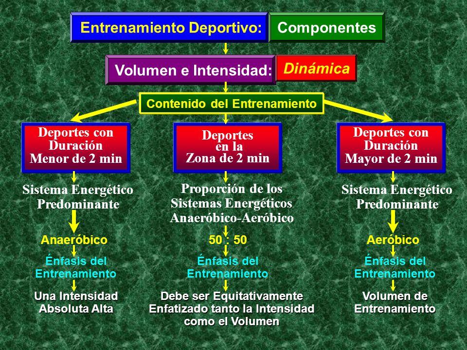Entrenamiento Deportivo: Componentes Volumen e Intensidad: Dinámica