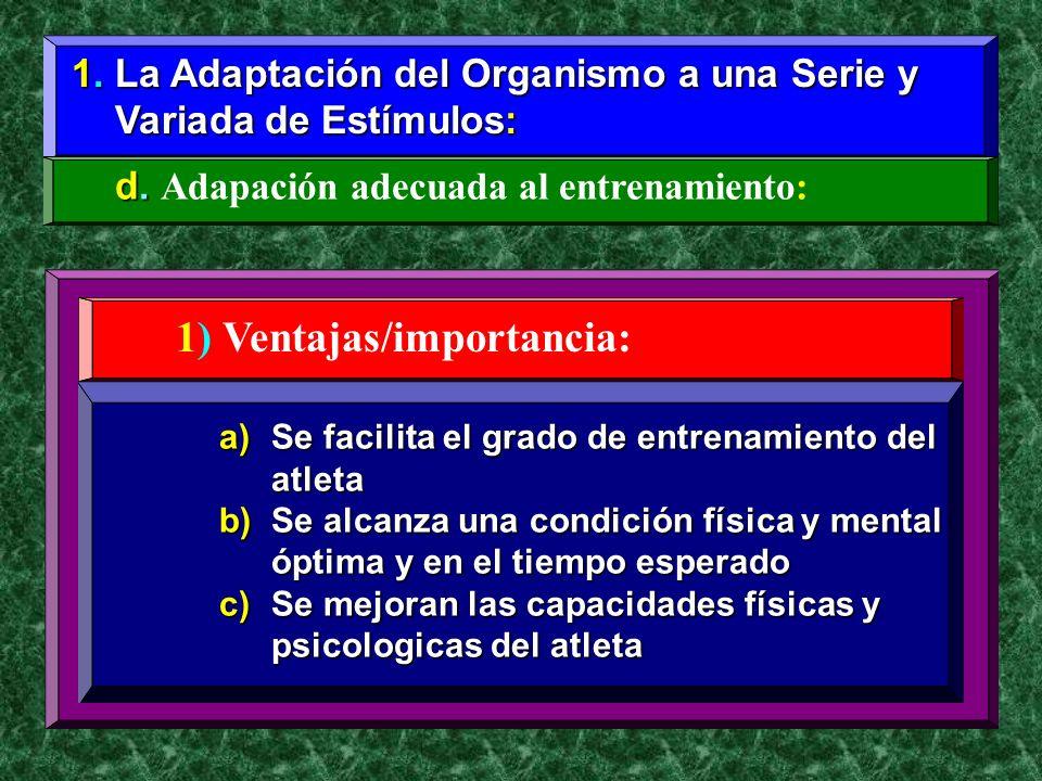1) Ventajas/importancia: