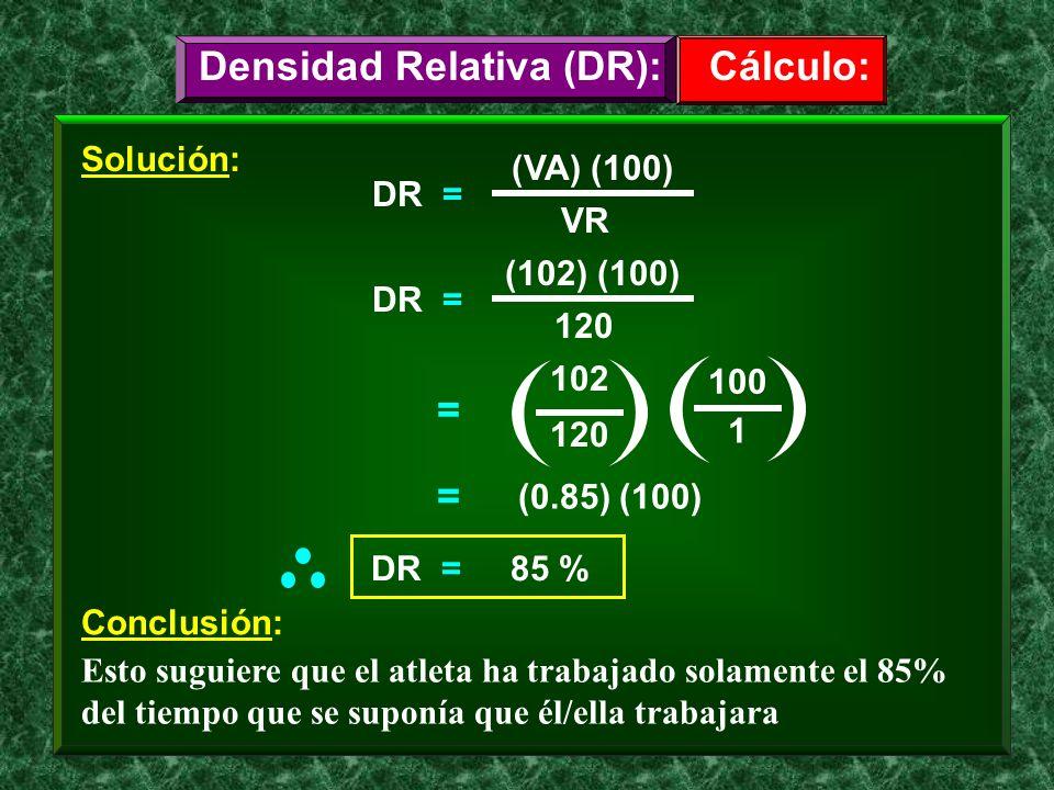 Densidad Relativa (DR):