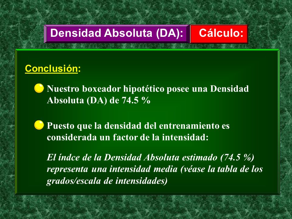 Densidad Absoluta (DA):
