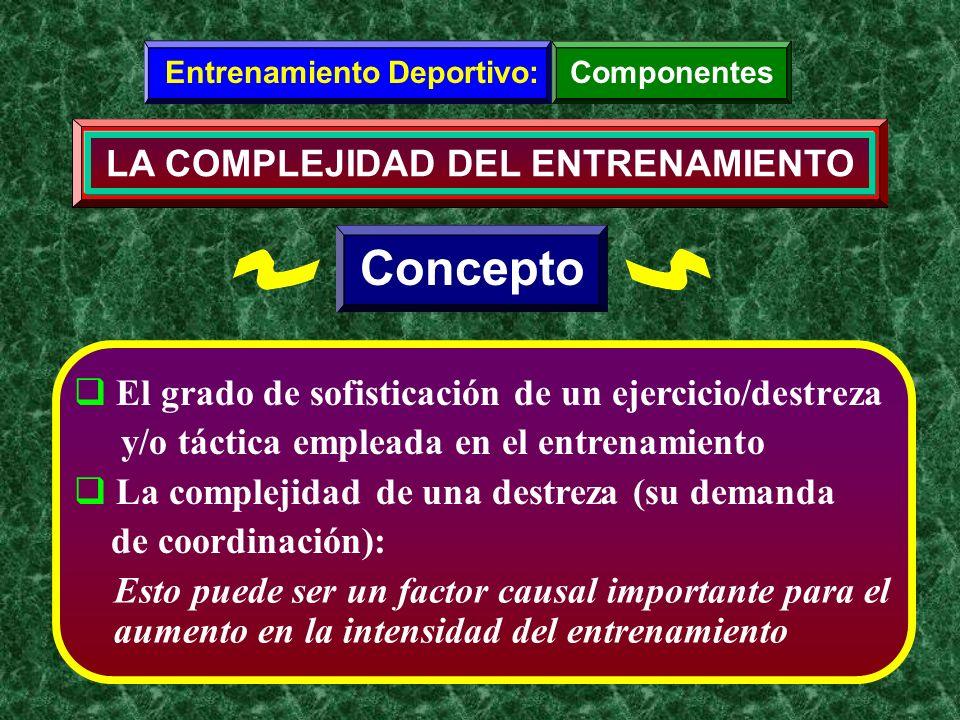 Entrenamiento Deportivo: LA COMPLEJIDAD DEL ENTRENAMIENTO