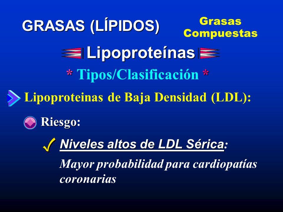 * Tipos/Clasificación *