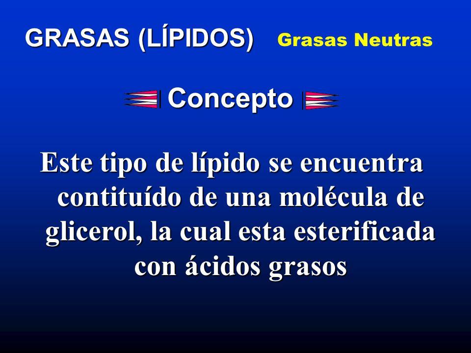 Grasas Neutras GRASAS (LÍPIDOS) Concepto.