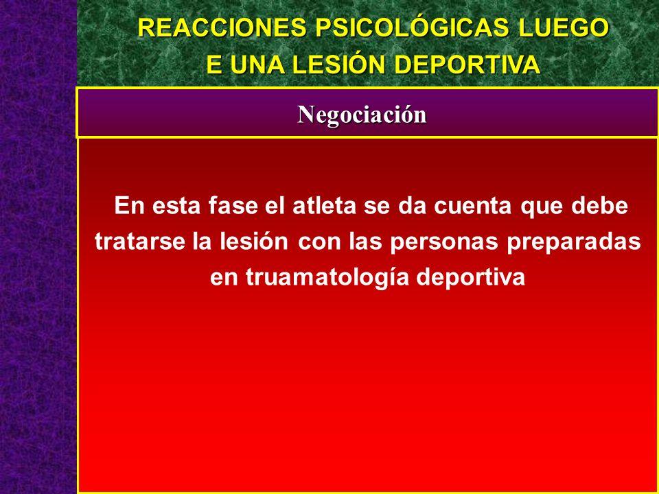 REACCIONES PSICOLÓGICAS LUEGO