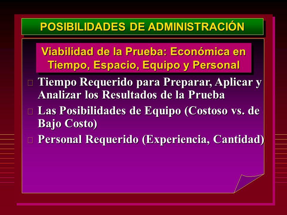 POSIBILIDADES DE ADMINISTRACIÓN