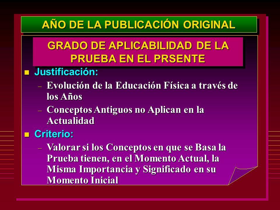 AÑO DE LA PUBLICACIÓN ORIGINAL