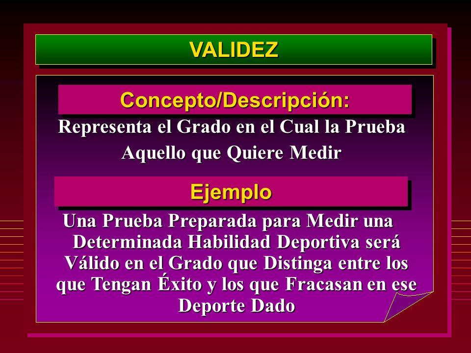 VALIDEZ Concepto/Descripción: Ejemplo