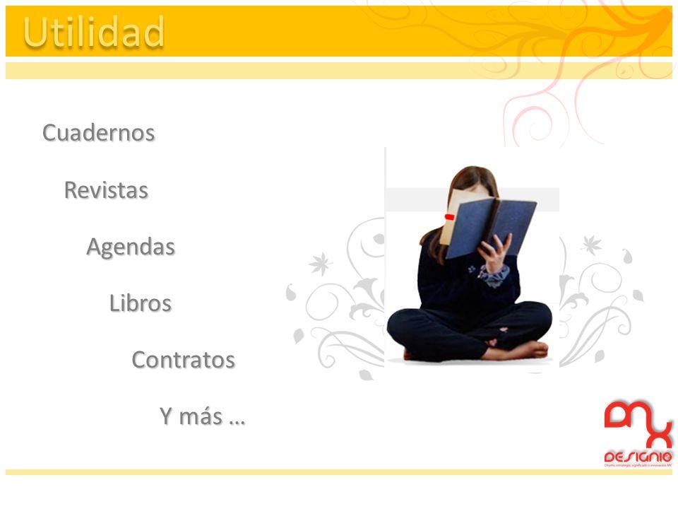 Utilidad Cuadernos Revistas Agendas Libros Contratos Y más …