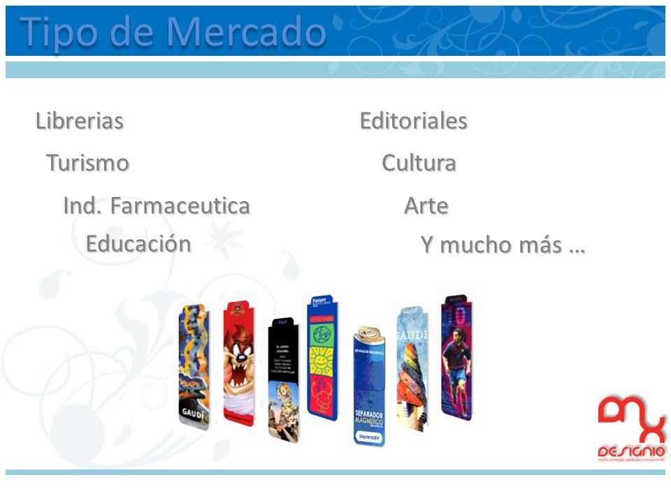 Tipo de Mercado Librerias Editoriales Turismo Cultura