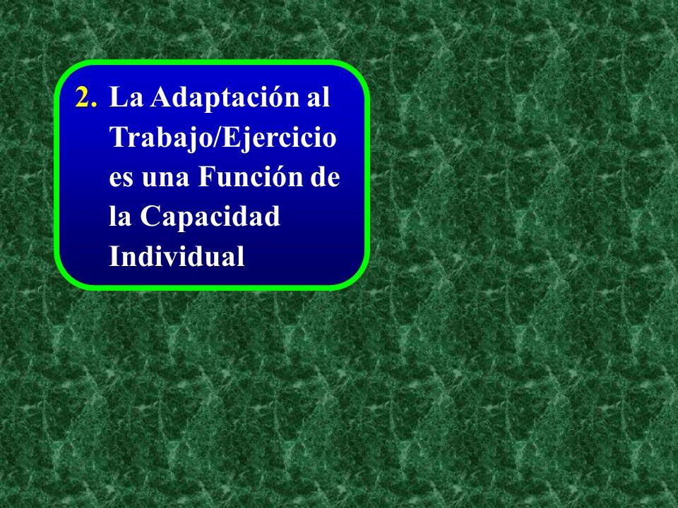 2. La Adaptación al Trabajo/Ejercicio es una Función de la Capacidad Individual
