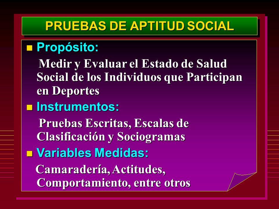 PRUEBAS DE APTITUD SOCIAL