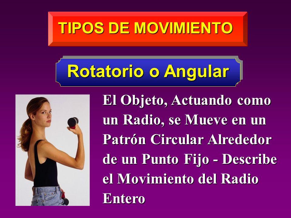 Rotatorio o Angular TIPOS DE MOVIMIENTO