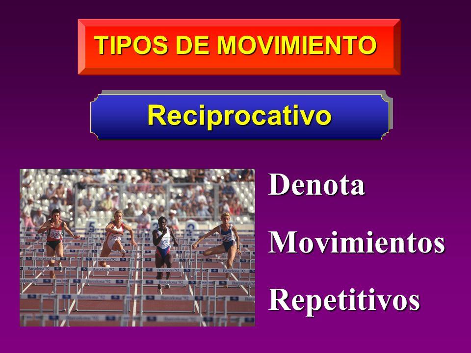 TIPOS DE MOVIMIENTO Reciprocativo Denota Movimientos Repetitivos