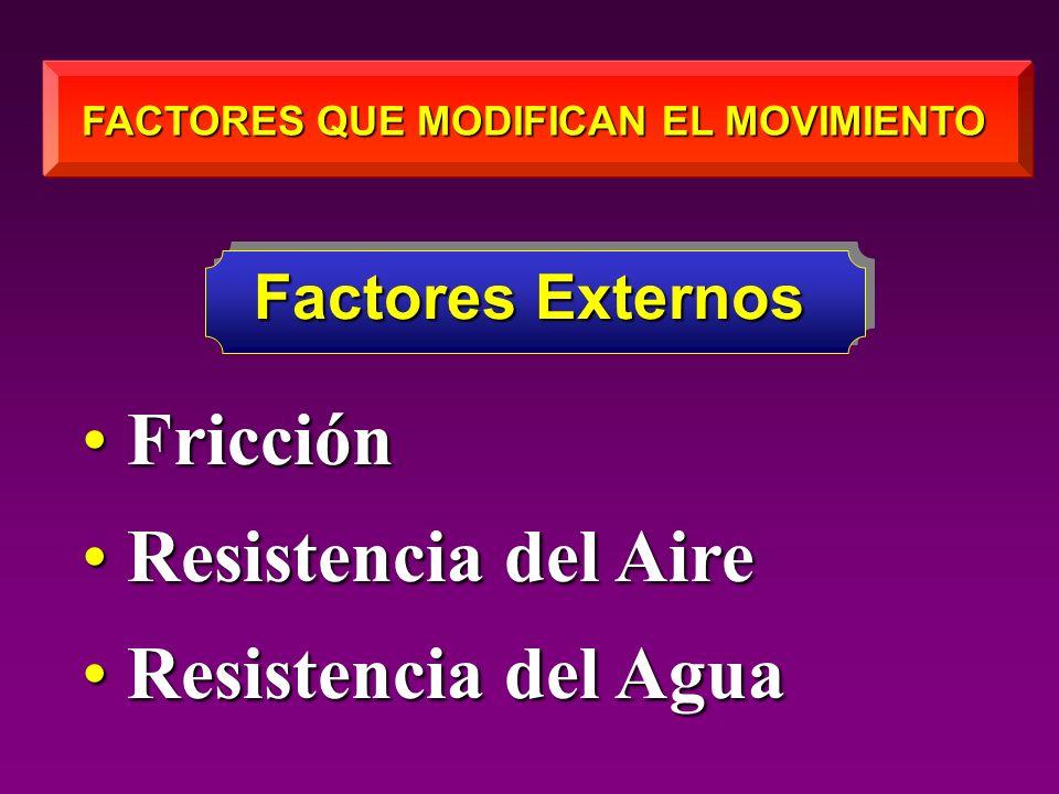 FACTORES QUE MODIFICAN EL MOVIMIENTO