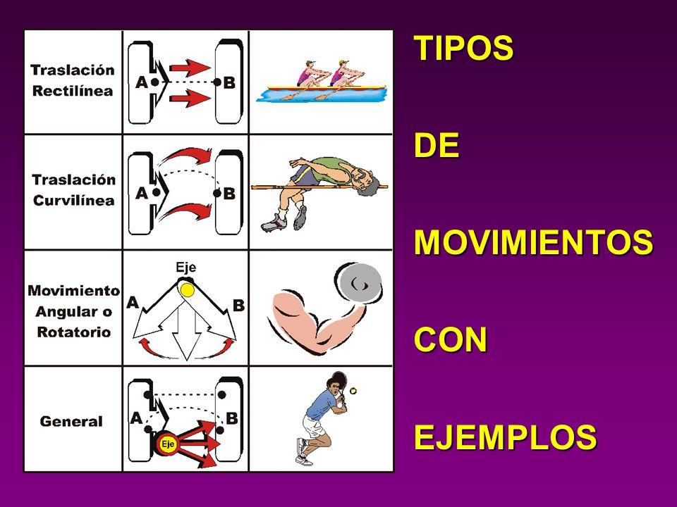 TIPOS DE MOVIMIENTOS CON EJEMPLOS