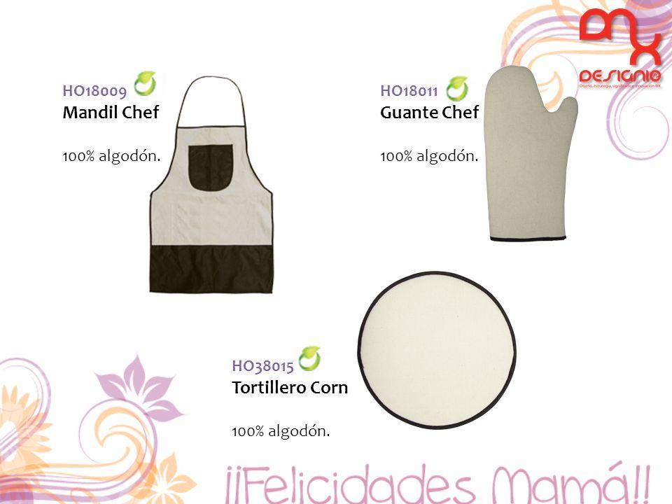 Mandil Chef Guante Chef Tortillero Corn HO18009 100% algodón. HO18011