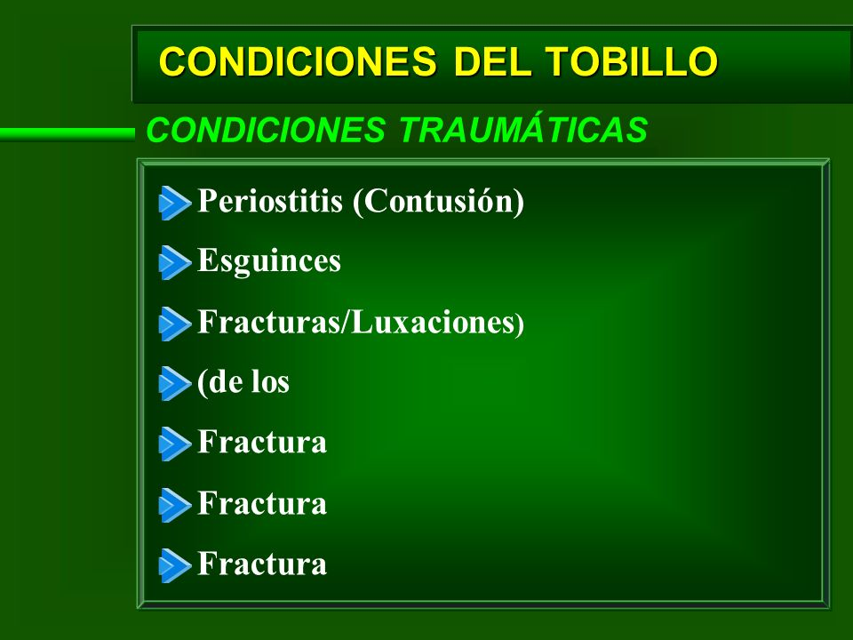 CONDICIONES DEL TOBILLO