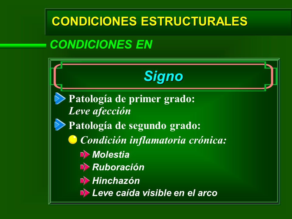 Signo CONDICIONES ESTRUCTURALES CONDICIONES EN