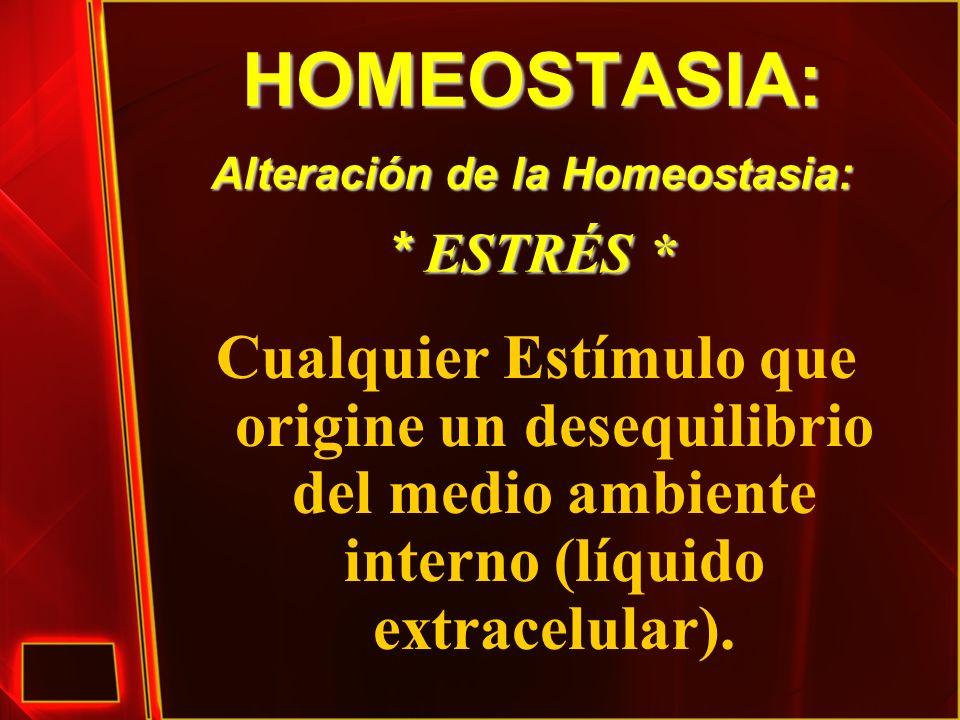 HOMEOSTASIA: Alteración de la Homeostasia: * ESTRÉS *