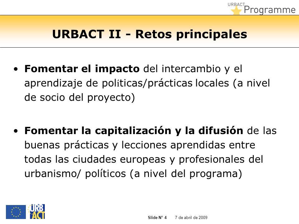 URBACT II - Retos principales