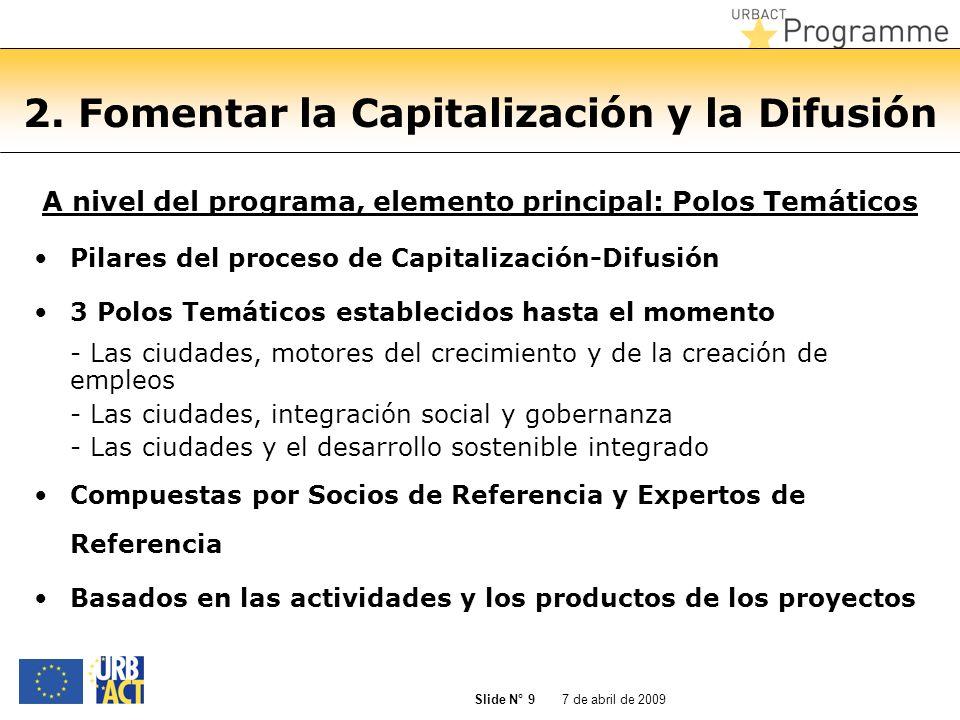 2. Fomentar la Capitalización y la Difusión