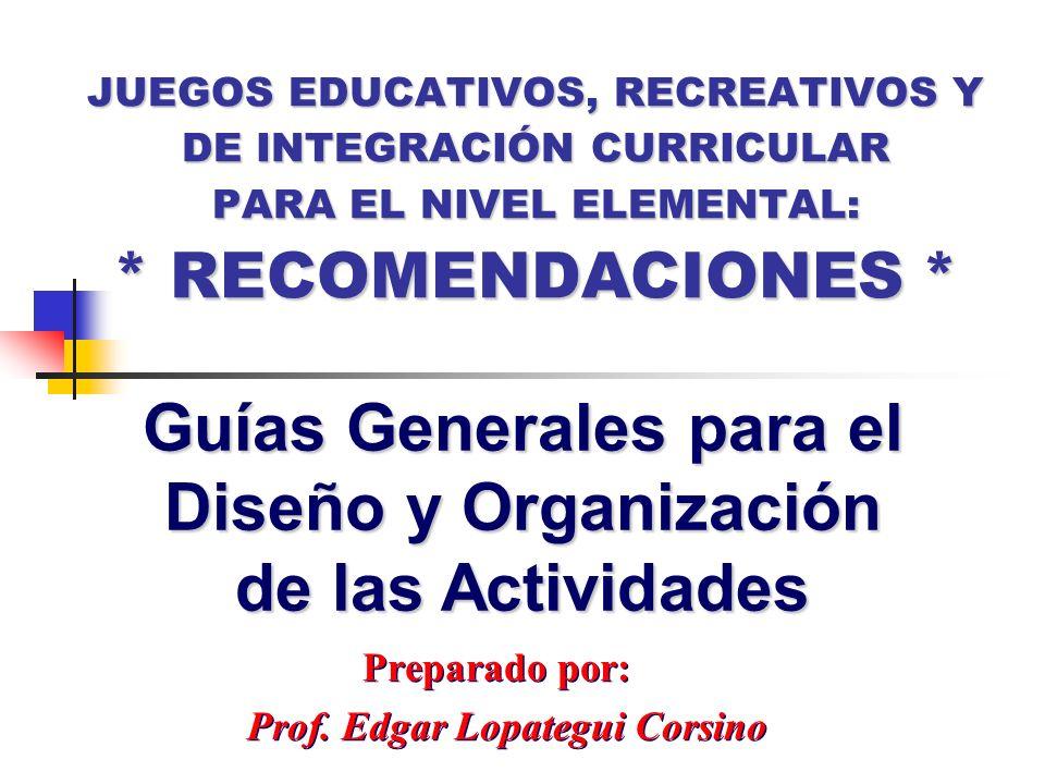 Preparado por: Prof. Edgar Lopategui Corsino