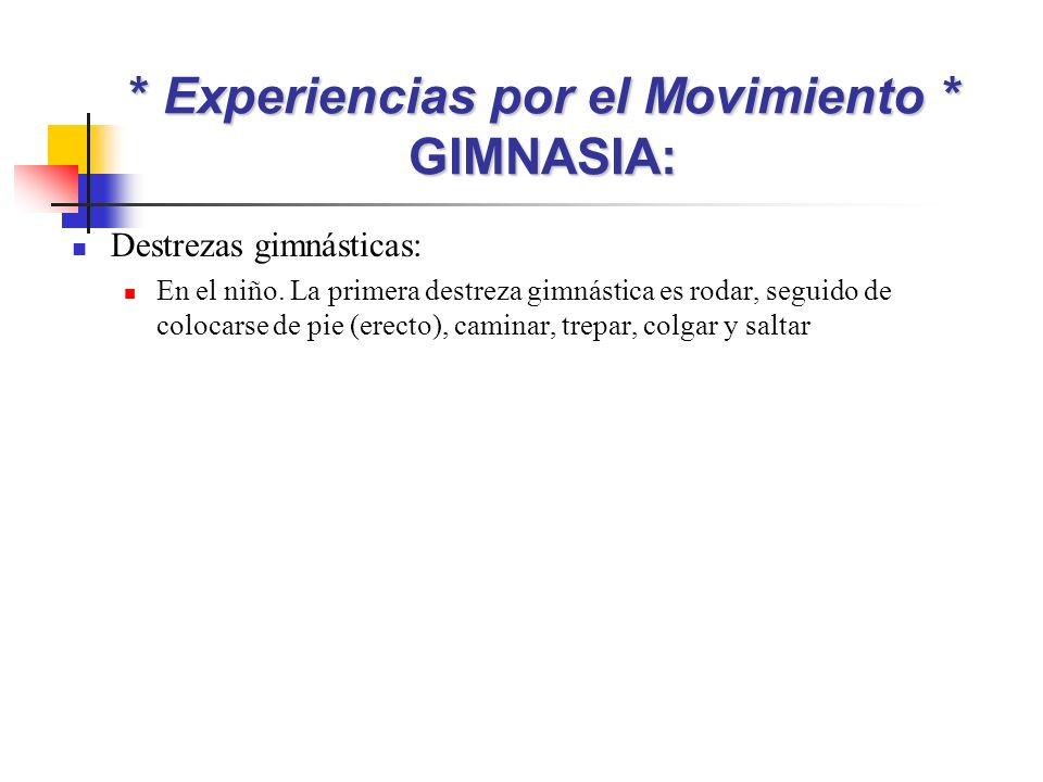 * Experiencias por el Movimiento * GIMNASIA: