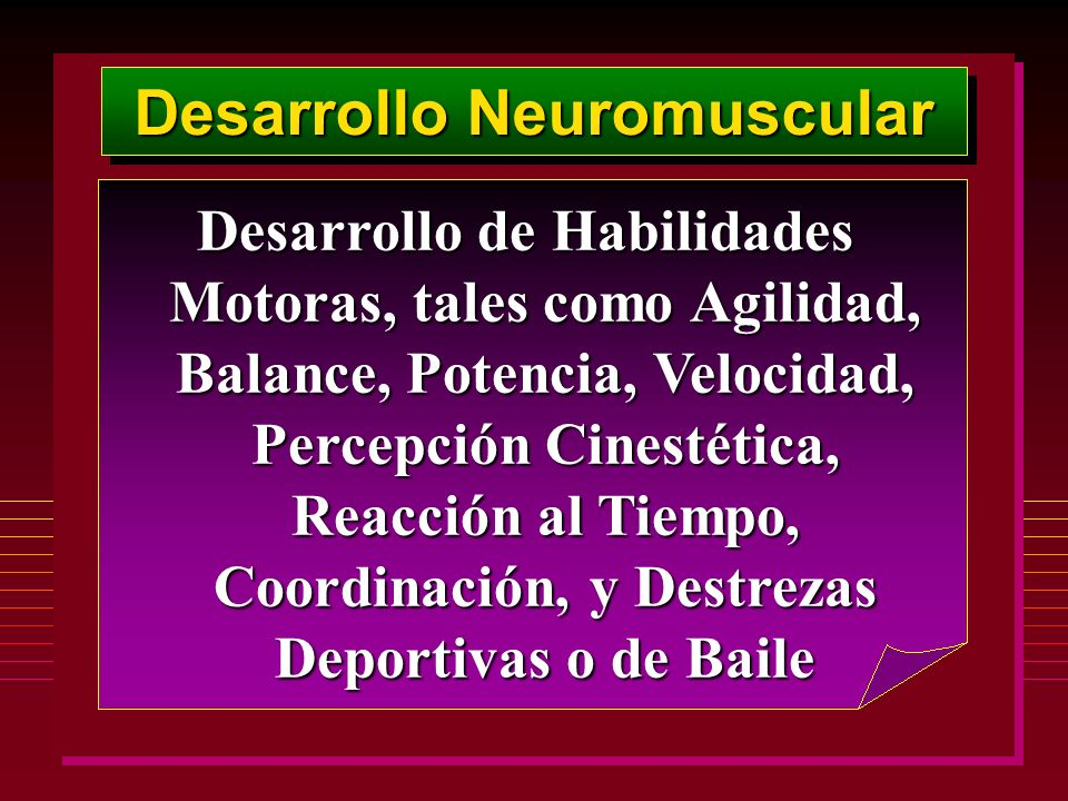 Desarrollo Neuromuscular
